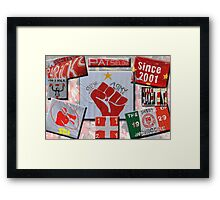 SEI Flags Collage Framed Print