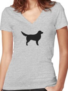 Nova Scotia Duck Tolling Retriever Silhouette(s) Women's Fitted V-Neck T-Shirt
