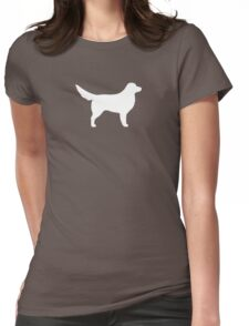 Nova Scotia Duck Tolling Retriever Silhouette(s) Womens Fitted T-Shirt