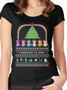 Happy Hearth's Warming Sweater Women's Fitted Scoop T-Shirt