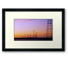 Right out My Backdoor Series ~ High Wire Sunset Framed Print