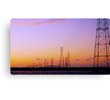 Right out My Backdoor Series ~ High Wire Sunset Canvas Print