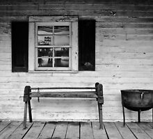 PORCH IN BLACK AND WHITE by Diane Peresie