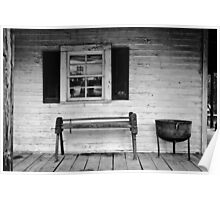 PORCH IN BLACK AND WHITE Poster