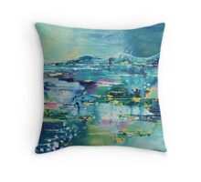 Flooded plains Throw Pillow