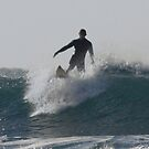Cornish Seascape surfer by Brian Roscorla
