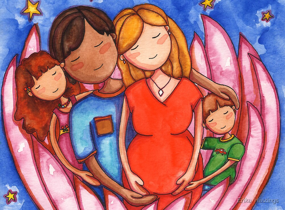 Peaceful Pregnancy Family by Erika  Hastings