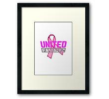 United Fanboyz Breast Cancer Awareness Framed Print