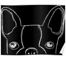 Boston Terrier Doodle Poster