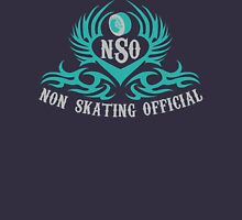 Non-Skating Official {silver & teal} Womens Fitted T-Shirt