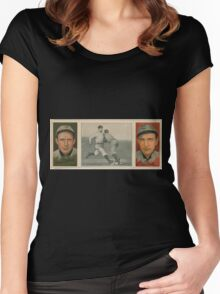 Benjamin K Edwards Collection Orval Overall James P Archer Chicago Cubs baseball card portrait Women's Fitted Scoop T-Shirt
