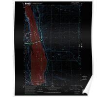 USGS Topo Map Washington State WA Vantage 244461 1965 24000 Inverted Poster