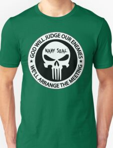 god will judge our enemies we'll arrange the meeting - white Unisex T-Shirt
