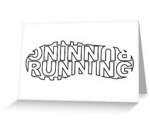 Running Shoe Print Greeting Card