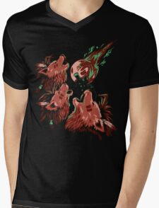 XIII Wolf Moon Mens V-Neck T-Shirt