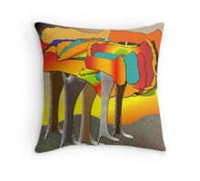 The patchwork forest Throw Pillow