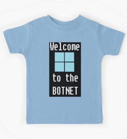 Welcome to The BotNet - black Kids Tee