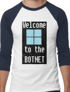 Welcome to The BotNet - black Men's Baseball ¾ T-Shirt