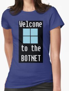 Welcome to The BotNet - black Womens Fitted T-Shirt