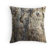 peeled log Throw Pillow