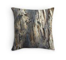 peeled log too Throw Pillow