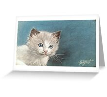 Cute Ragdoll Kitten Portrait Greeting Card