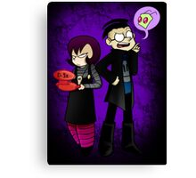 x files-- i mean, invader zim thing Canvas Print