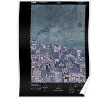 USGS Topo Map Washington State WA Sagebrush Ridge 20110407 TM Inverted Poster