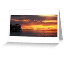 Grange Sunset Greeting Card