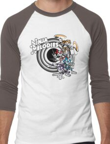 Ninja Melodies (TV Colours) Men's Baseball ¾ T-Shirt