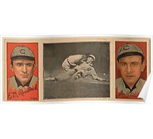 Benjamin K Edwards Collection Ed M Reulbach James P Archer Chicago Cubs baseball card portrait Poster