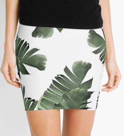 Banana Leaf Frenzy #redbubble Mini Skirt