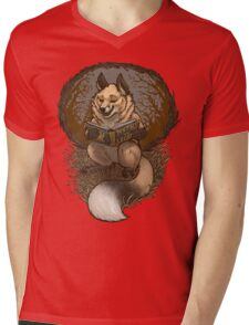 Foxes and Legends Mens V-Neck T-Shirt