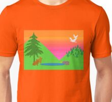 Bunnies and Birds Unisex T-Shirt