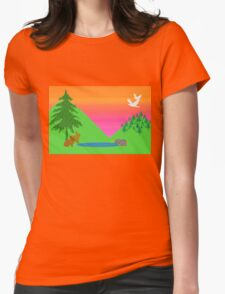 Bunnies and Birds Womens Fitted T-Shirt