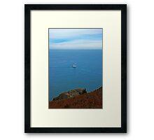 Lonesome Boatman Framed Print