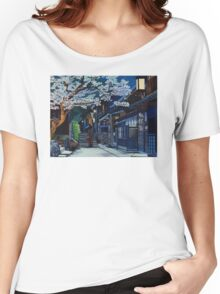 Under the Cherry Blossoms, Spring Women's Relaxed Fit T-Shirt