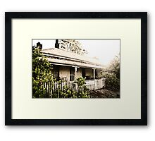 Robinia's Cottage Framed Print