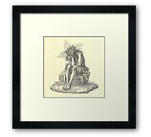 Copy-right Free Series: Tired Jesus Framed Print