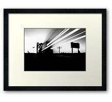 train of broken dreams Framed Print