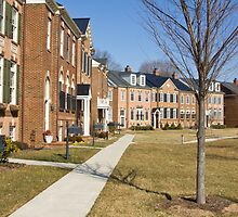 Row of luxury townhomes by Bniphotography