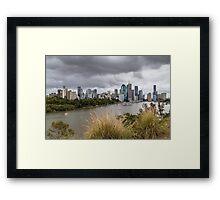 Brisbane from Kangaroo Point Cliffs Framed Print
