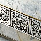 Elegant Balustrade in the Museum by Martha Sherman