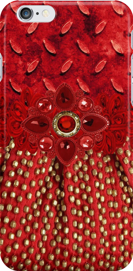 Beaded Glamour I Phone Case or Pod by jvinnyg