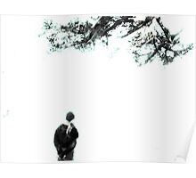 contemplation under the tree Poster