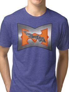 Battle Armor He-Man (DAMAGE version) Tri-blend T-Shirt