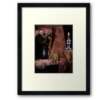 Flowers, Grapes and New Candlestick Framed Print