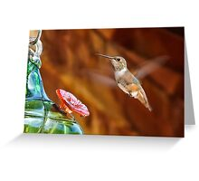 The Humming of Bird Wings  Greeting Card