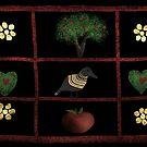 Country Folk Shadow Box by Mitch Adams