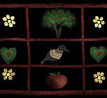 Country Folk Shadow Box by Debbie  Adams